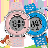 SANDA 2008 Colorful Reloj Fashion Luminous Pantalla Reloj digital a prueba de golpes para niños de 12/24 horas