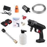 24V / 48V 435PSI vezeték nélküli nagynyomású mosó hordozható autómosógép-tisztító vízpermetező pisztolyok 1/2 akkumulátorral