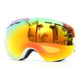 Snowboard Ski Goggles Anti Fog UV Protection Double-Lens Motorcycle Sport Glasses White Frame
