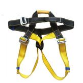 Outdoor Rock Climbing Harness Seat Cinto Rappelling Half Body Portable Corda com segurança metálica Gancho