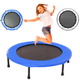 40inch Round Kids Mini Trampoline Fitness Rebounder Jogger Home Gym Exercise Sports Protective Gear