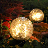 Crackle Ball-shaped LED Solar Lights Lawn Light Garden decoration Christmas Outdoor Ground Lamp