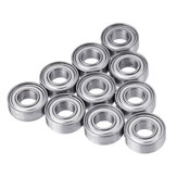 10Pcs 11x5x4mm Steel Shielded Deep Groove Ball Bearing MR115ZZ