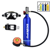 DEDEPU 1L Scuba Tank Oxygen Cylinder Diving Tank 3000Psi Dive Respirator Portable Diving Set with Adapter Snorkeling Glasses