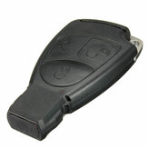 3-key Remote Key Case With Small Key And Battery Clip For Mercedes