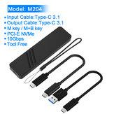 Rocketek M204 SSD Чехол NVME Enclosure 10Gbps M.2 to USB Type C 3.1 Адаптер для PCIE NGFF M / B & M Key Disk Коробка