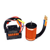 Superar Passatempo À Prova D 'Água F540 3300KV Brushless Rc Motor Do Carro + 45A ESC Combo Set Para 1/10 Rc Car