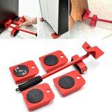 Conjunto de ferramentas de movimentação de deslizadores deslizantes de fácil movimentação 5pcs elevador de móveis Rolete Ferramentas de movimentação