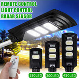 150/300/450LED Solar Light Radar Sensor Timing Control+Light Control Garden Yard Street Lamp with Remote Control
