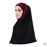 女性女の子マスクヒジャーブレーススカーフイスラムアミラ帽子ショールヘッドラップ
