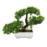 Bonsai Tree with Pot Artificial Planta Decoración para escritorio de oficina en casa 18cm