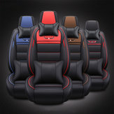 PU Leather Wear-Resistant Breathable 5 Seat Car Universal Seat Cover Cushion Mat