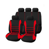 9 Pcs/Set Universal Car Seat Covers Cushion Headrest Cover Protective Front&Rear Seat Protectors Full Set Washable