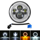 7 Inch LED Headlight Projector Angle Eyes Hi/Low DRL Turn Signal Lamp For Jeep Motorcycle