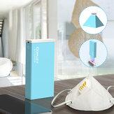 Składana lampa sterylizacyjna LED UV pudełko z lampą do sterylizacji USB ładowanie przenośne 3 minuty maska sterylizator ultrafioletowy światło do kubków na szczoteczkę golarka do ręczników