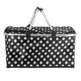 Portable Picnic Basket Thermal Insulated Storage Bag Cooler Tote Food