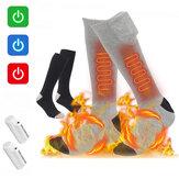3-Gear Adjustable 4000mAh Electric Heating Socks 70 ℃ Pemanasan Cerdas Pemanasan Kaus Kaki Panjang Bernapas Nyaman
