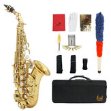 Slade Saxophone Soprano Instrument B-flat Saxophone for Beginner with Cleaning Accessories