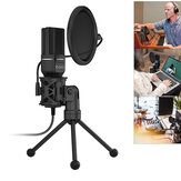 Bakeey SF-777 Desktop USB Microphone Gaming Computer Condenser with Folding Stand Tripod Filter for PC Video Recording Microphone