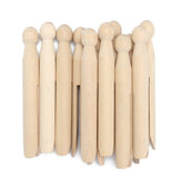 Traditional Natural Wooden Craft Clothespin Dolly Clothes Pegs for Washing Lines DIY Crafts