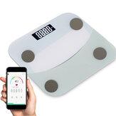 Escala de medição de 180KG Bluetooth Escala de peso com Smart APP LED Display digital Banheiro Escala de peso corporal