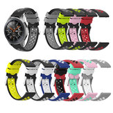 Bakeey 20/22mm Width Universal Sports Dot Pattern Soft Silicone Watch Band Strap Replacement for Samsung Galaxy Watch3 42mm / 46mm / Galaxy Watch Gear S3