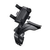 Supporto per telefono cellulare per auto con rotazione a 360 ° Supporto per telefono cellulare per cruscotto per parasole per auto