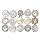 15パターンビンテージロシアの金属のコイン模倣コピー通貨ギフトノベルティを収集