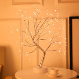 108 LED Abajur 3D Tree USB Bateria Luz noturna de uso duplo para casa de férias Quarto interior Crianças Bar Decor Fairy Light