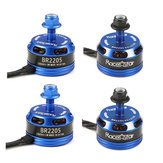 4X Racerstar Racing Edition 2205 BR2205 2300KV 2-4S Brushless Motor Dark Blue For 210 X220 250 280 RC Drone
