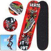 31palcová skateboardová koloběžka s PVC kolečkem Vysoce odolná skateboardová deska ideální pro začátečníky a Pro