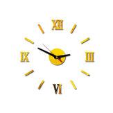 Acrylic Mirror Wall Clock Roman Numerals DIY Personality Clock Creative Decorative Clocks Home Office Creative Furnish