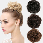 7 Colors Hair Bun Extensions Wavy Curly Messy Donut Chignons Hair Piece Wig Hairpiece
