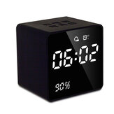 bluetooth FM Radio Alarm Clock With USB Charging Wireless Mirror Bass Speaker
