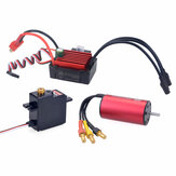 SURPASS HOBBY KK 2040 Brushless Motor 3900KV 35A Brushless ESC 17G Metal Gear Digital Servo for 1/16 1/18 Model RC Car Parts