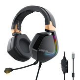BlitzWolf® BW-GH2 Gείμαι Headphone 7.1 Channel 53mm Driver USB Wired RGB Gamer Hτάση with Mic for Computer PC PS3 / 4