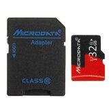 Microdata 32GB C10 U1 Tarjeta de memoria micro TF con adaptador de tarjeta convertidor para TF a SD