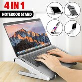 4 In 1 Foldable Height Adjustable Laptop Stand Phone Holder Tablet Stand Calculator Stand For Laptop Notebook MacBook Between 11 Inches and 17 Inches