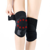 KALOAD 1Pair Tourmaline Self-Heating Knee Pad Far Infrared Magnetic Therapy Spontaneous Heating Pad Fitness Protective Gear