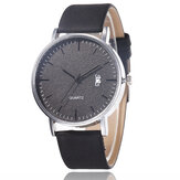 Casual Sports with Calendar Frosted Dial Chronograph Leather Band Women Quartz Watch