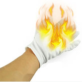 4Pcs Magic Props Palm Fire Gloves Trick Funny Toys With Random Free Gift
