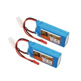 2 PCS ZOP Power 7.4V 1300mah 25C 2S Lipo Батарея JST Plug