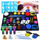 Kit di vernice per viso e corpo UV Glow Blacklight