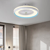 Ceiling Fan with Lighting LED Light 3 Color Temperature Adjustable Wind Speed Remote Control Without Battery Modern LED Ceiling Light for Bedroom Living Room Dining Room