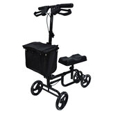 Mobility Knee Walker Scooter Ролик Crutch Leg Steerable Foldable Black