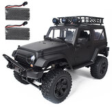 JY66 1/14 2.4Ghz 4WD RC Car For Jeep Off-Road Vehicles With LED Light Climbing Truck RTR Model Two Battery