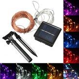 20M 200 LED Solar Powered Kobber Wire String Fairy Light Xmas Party Decor