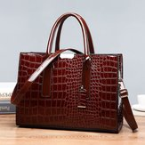 Women Fashion Crocodile Pattern Tote Bag