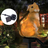 Waterproof Solar LED Landscape Light Rabbit Animal Ornament Lamp Garden Path Lawn Decor