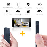 HD 720P Mini WiFi Camera Dual Lens Wireless Remote Control Motion Detect Built-in Battery Compatible iOS Android Smartphone